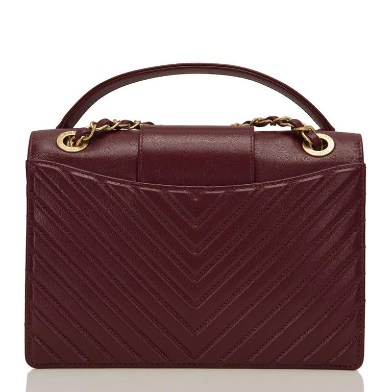 Chanel Paris In Rome Burgundy Sheepskin Flap Bag NEW In New Never_worn Condition For Sale In New York, NY