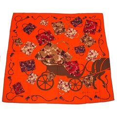 "Hermes ""Kelly en Caleche"" Cashmere and Silk Shawl 140cm"