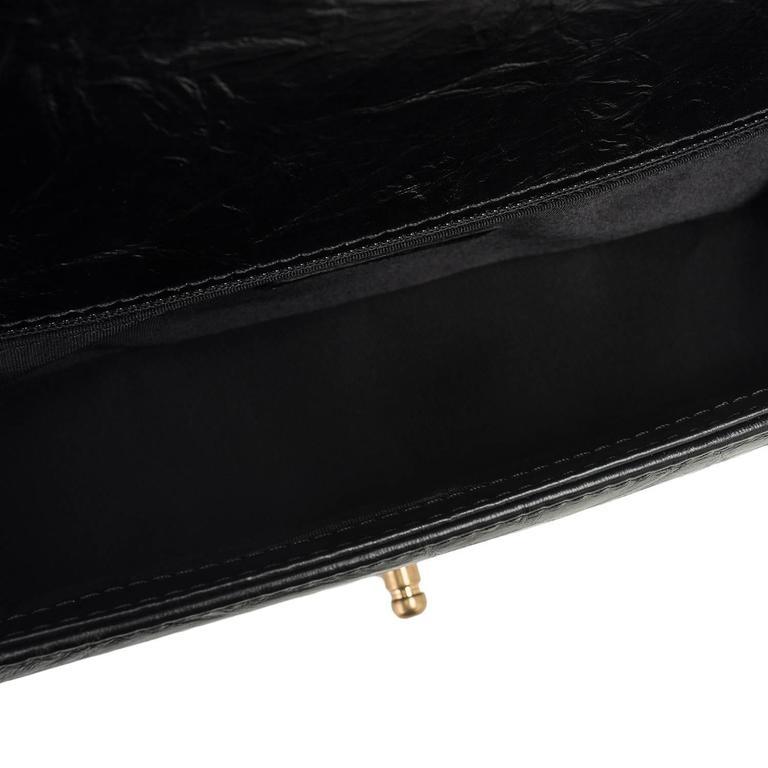 "Chanel Black Calfskin New Medium ""Jacket"" Boy Bag For Sale 3"