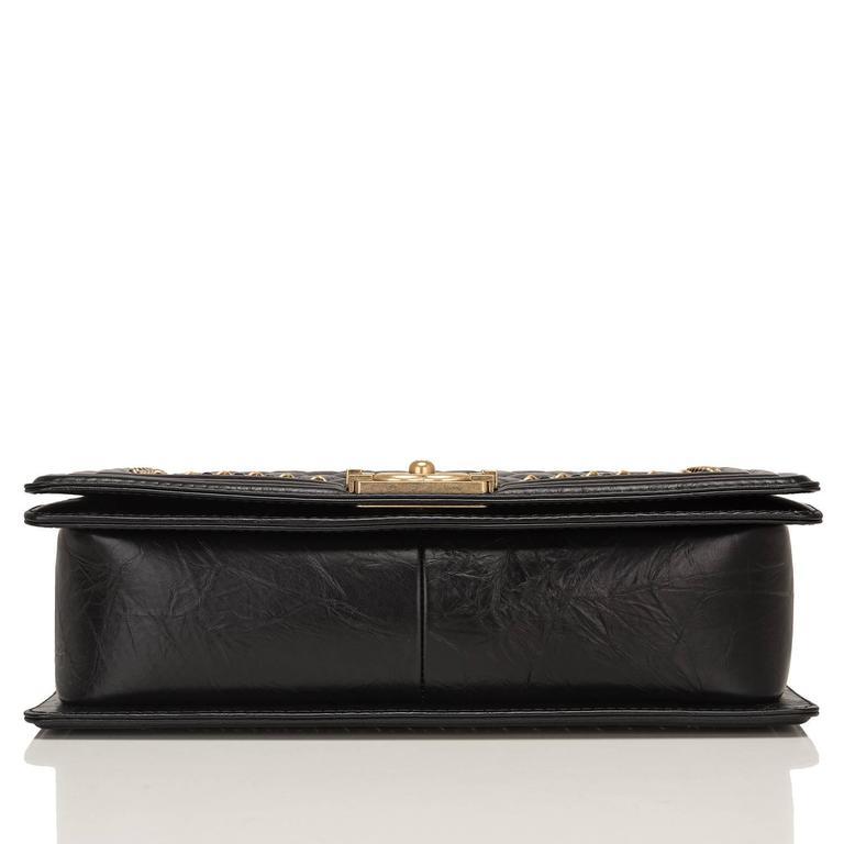 "Chanel Black Calfskin New Medium ""Jacket"" Boy Bag For Sale 1"