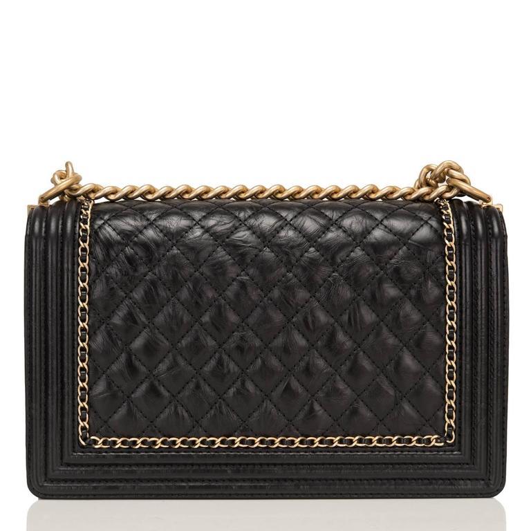 "Women's Chanel Black Calfskin New Medium ""Jacket"" Boy Bag For Sale"