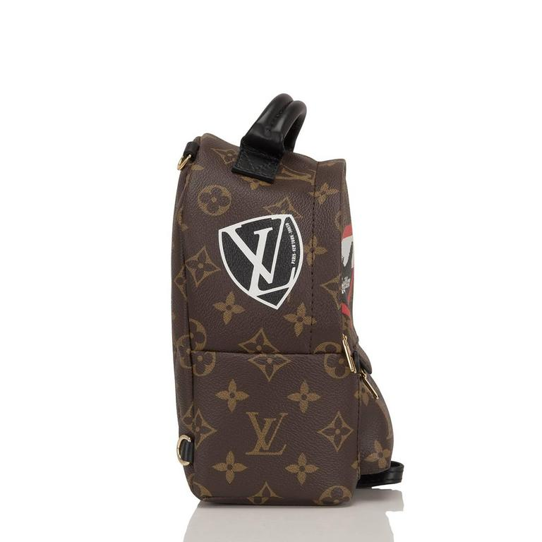 "Black Louis Vuitton Palm Springs ""World Tour"" Backpack Mini For Sale"