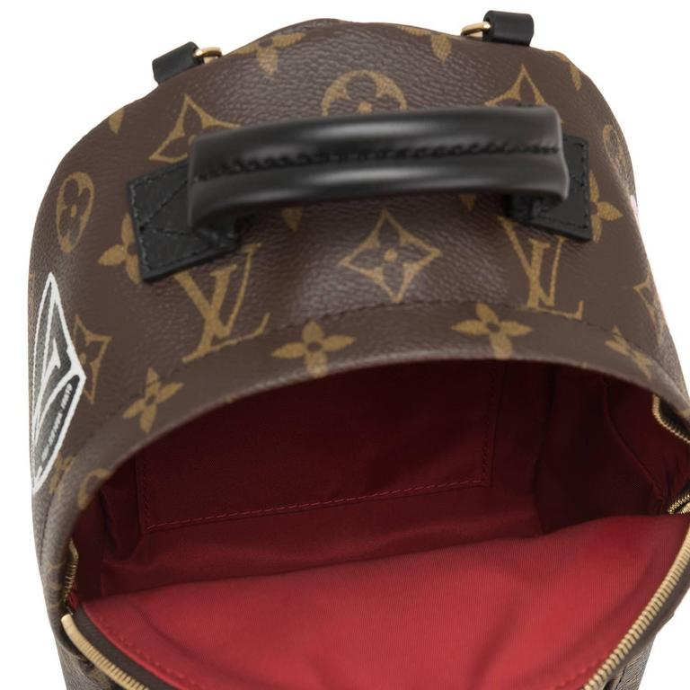 "Louis Vuitton Palm Springs ""World Tour"" Backpack Mini For Sale 3"