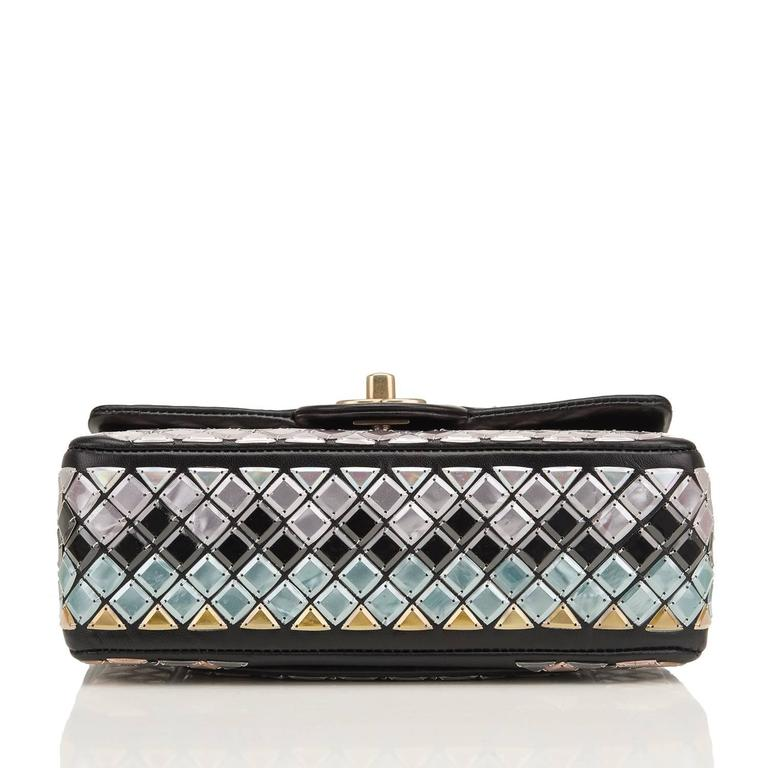 Chanel Black Mosaic Embroidered Small Flap Bag NEW For Sale 1