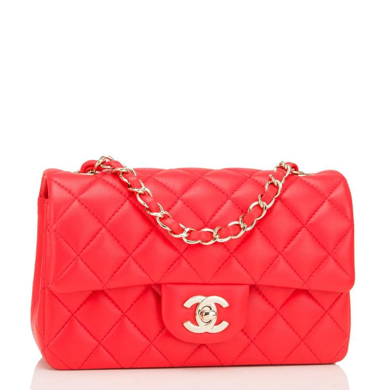 ca689aa6821131 Chanel Classic Mini Rectangular Flap Bag € 1 700.00. Chanel Red Quilted  Lambskin ...