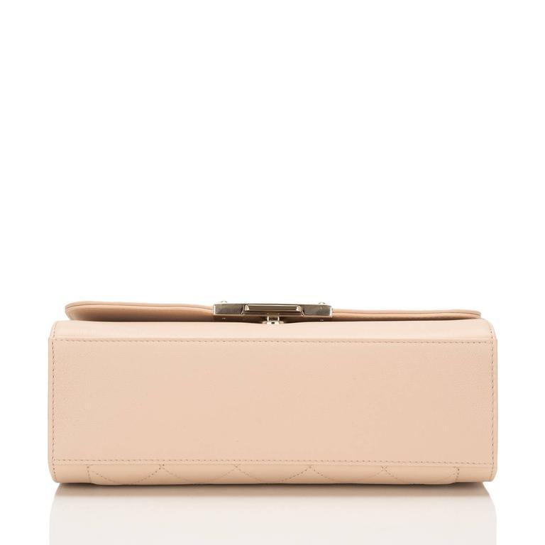 Women's Chanel Light Beige Medium Label Click Flap Bag NEW For Sale