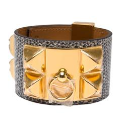 Hermes Ombre Lizard Collier De Chien (CDC) Bracelet Small