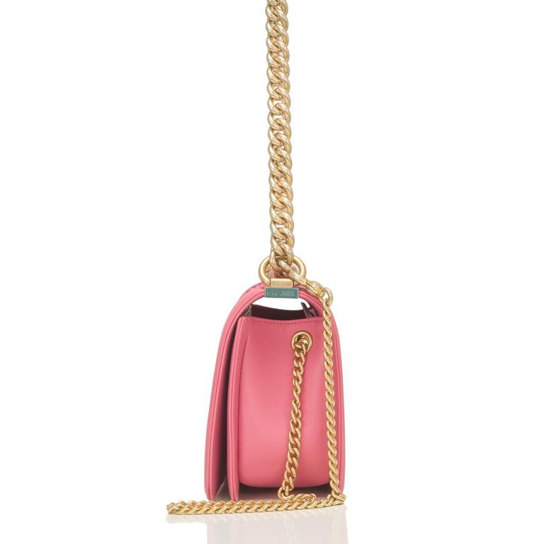 Chanel Pink Python Medium Boy Bag For Sale 1
