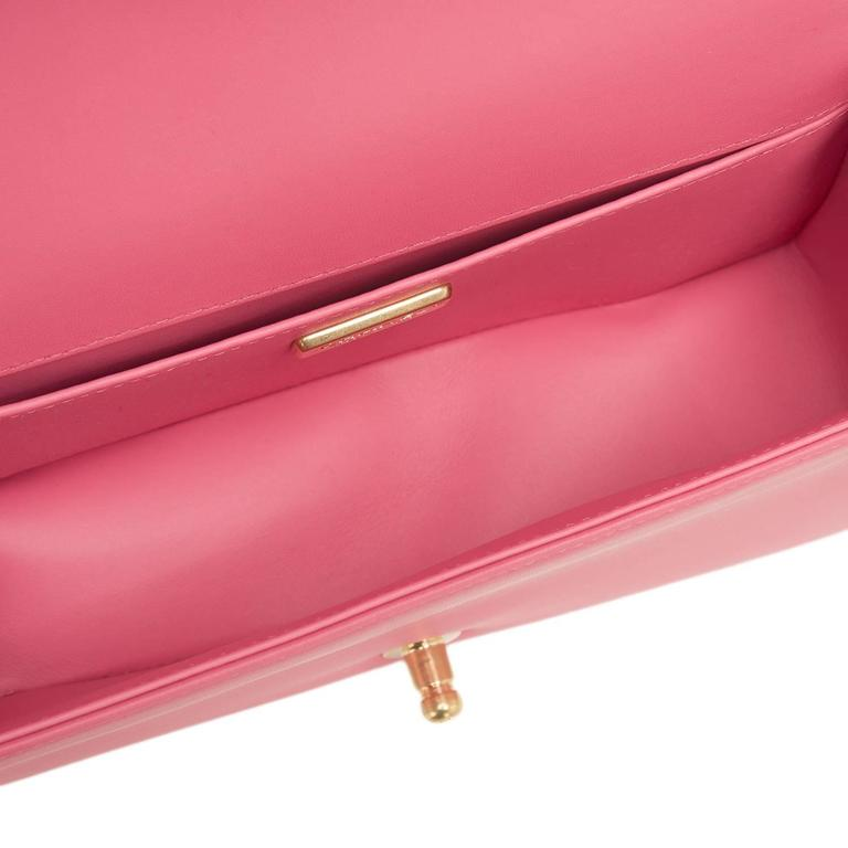 Chanel Pink Python Medium Boy Bag For Sale 4