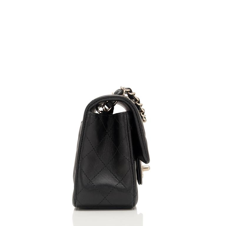 Chanel Black Quilted Lambskin Rectangular Mini Classic Flap Bag In New Never_worn Condition For Sale In New York, NY