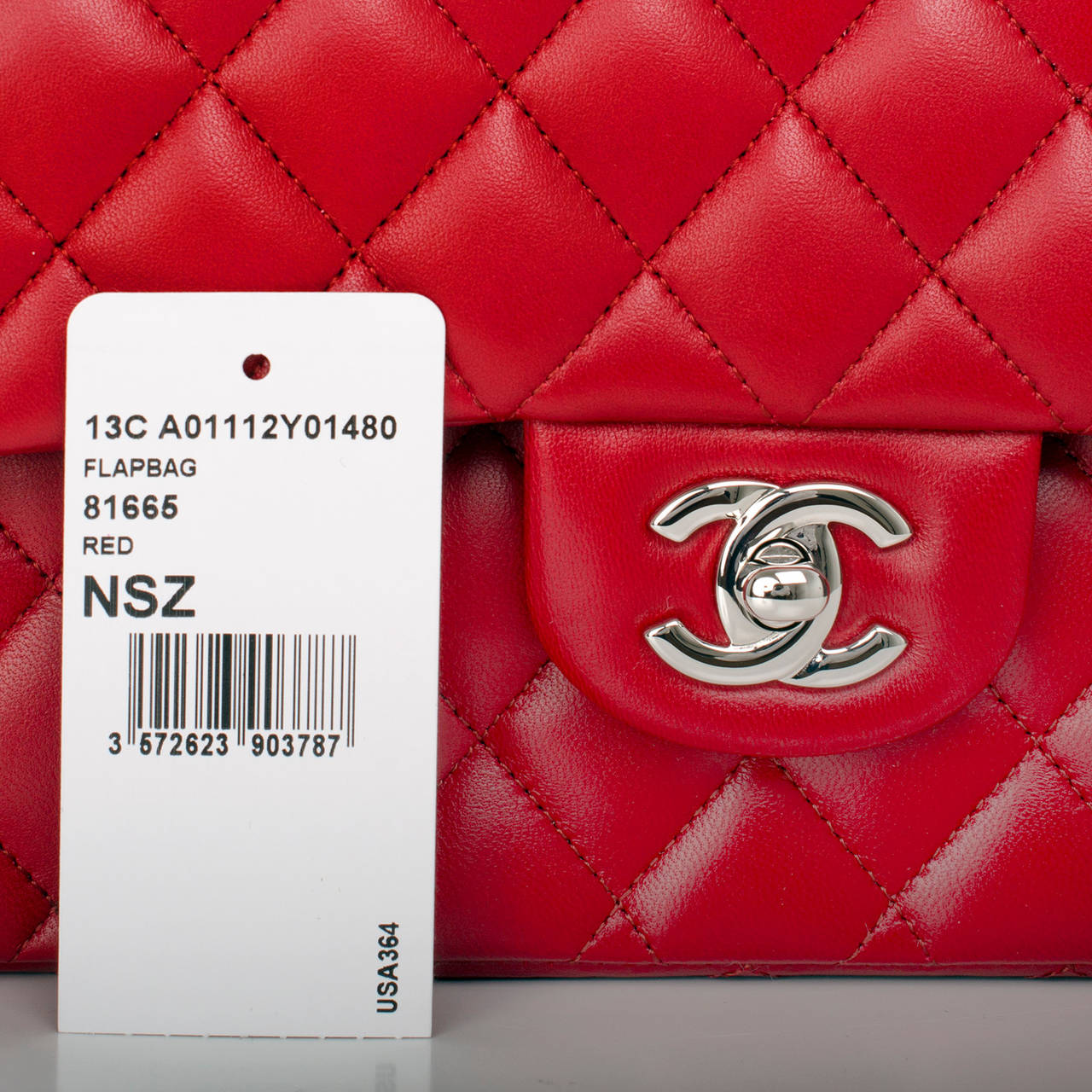 Chanel Red Quilted Lambskin Medium Classic Double Flap Bag For Sale 3