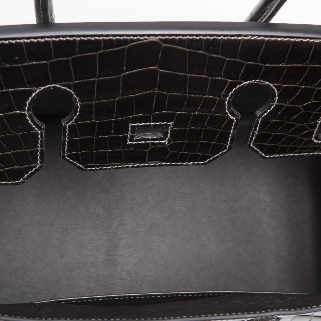 brighton backpack purse leather - hermes graphite porosus crocodile 35cm birkin bag with palladium ...
