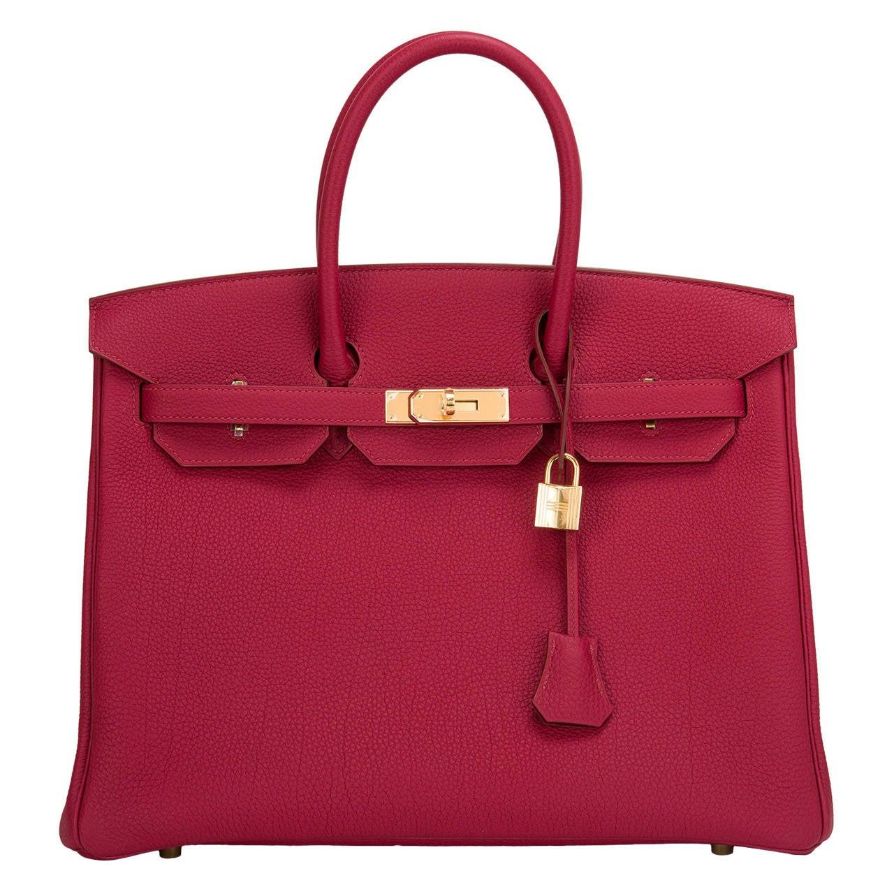hermes paris handbags - Hermes Rubis Togo Birkin 35cm Gold Hardware at 1stdibs
