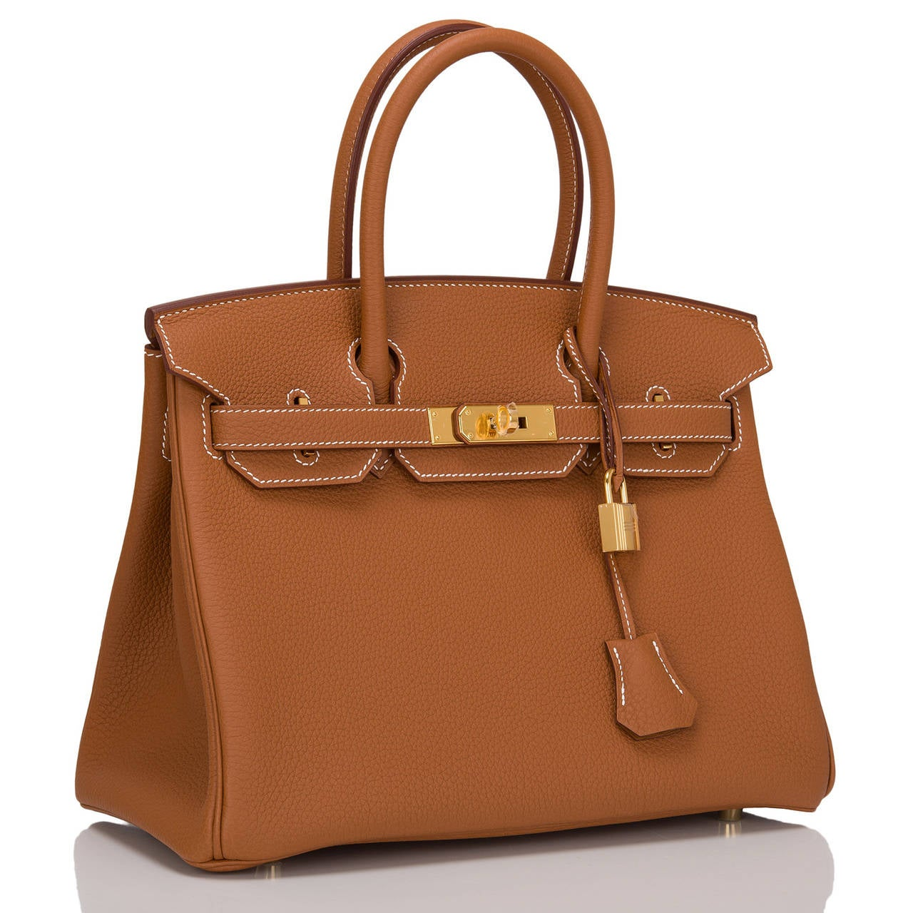 Hermes Gold Birkin 30cm in togo (bull) leather with gold hardware.