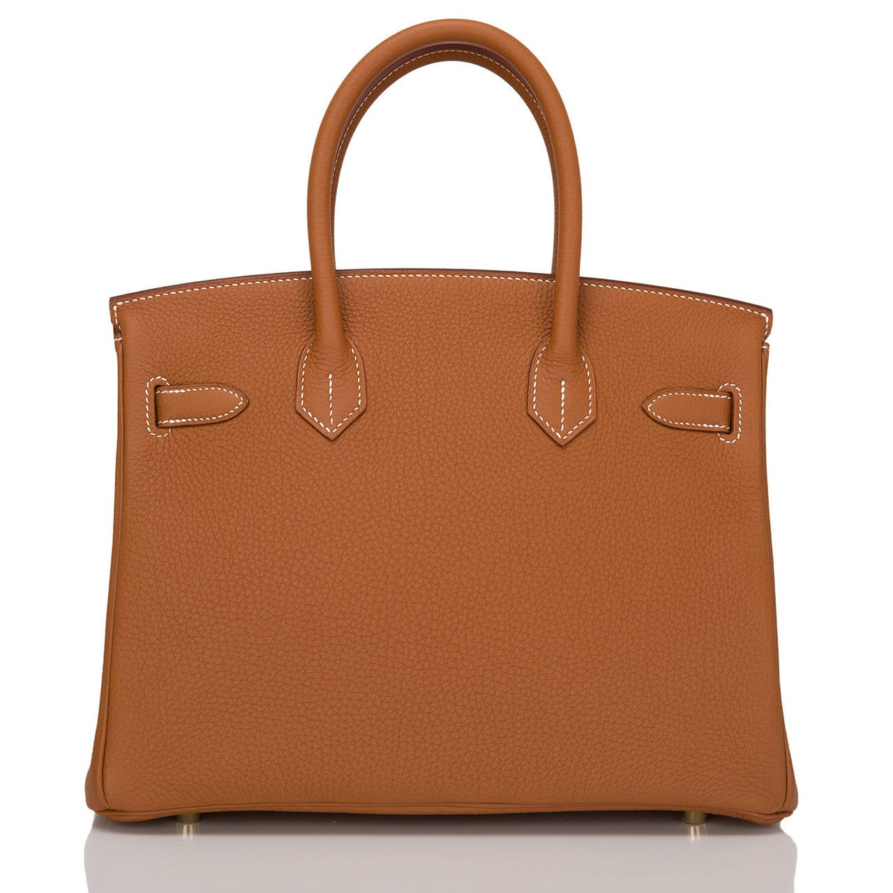 Brown Hermes Gold Togo Birkin 30cm Gold Hardware For Sale