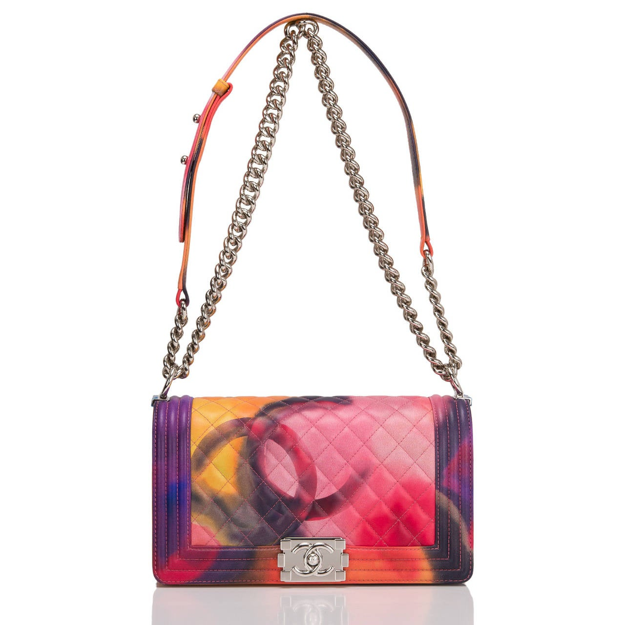 Chanel Flower Power Medium Boy Bag At 1stdibs