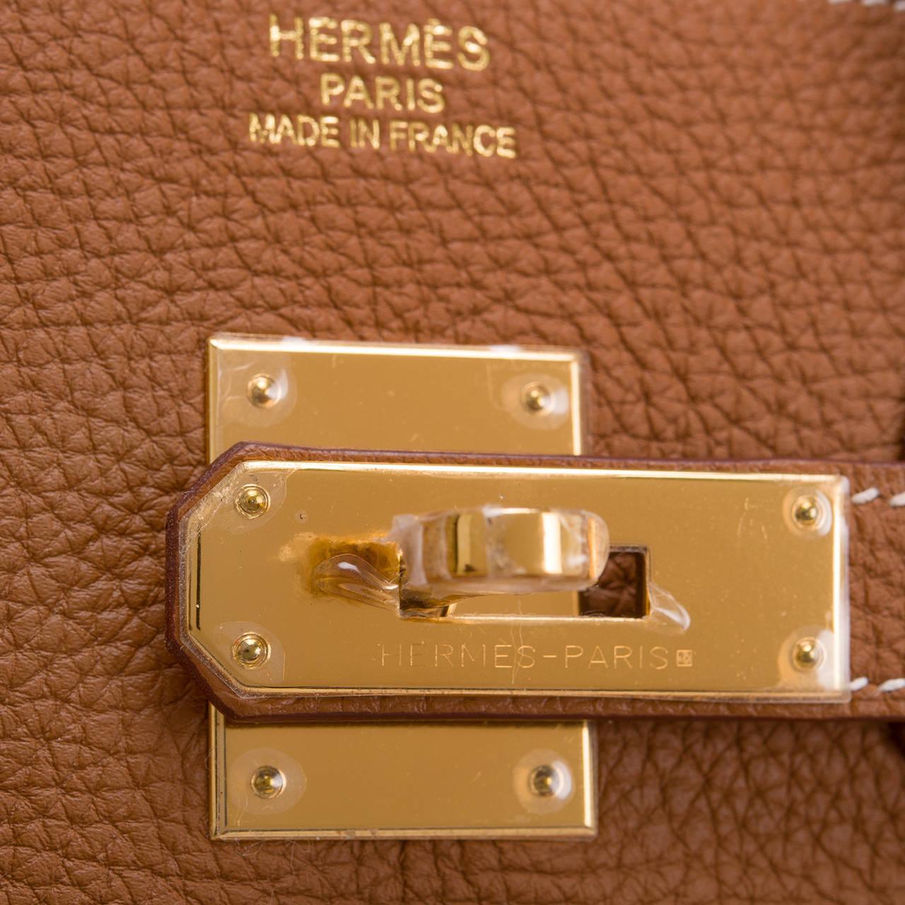 Hermes Gold Togo Birkin 35cm Palladium Hardware