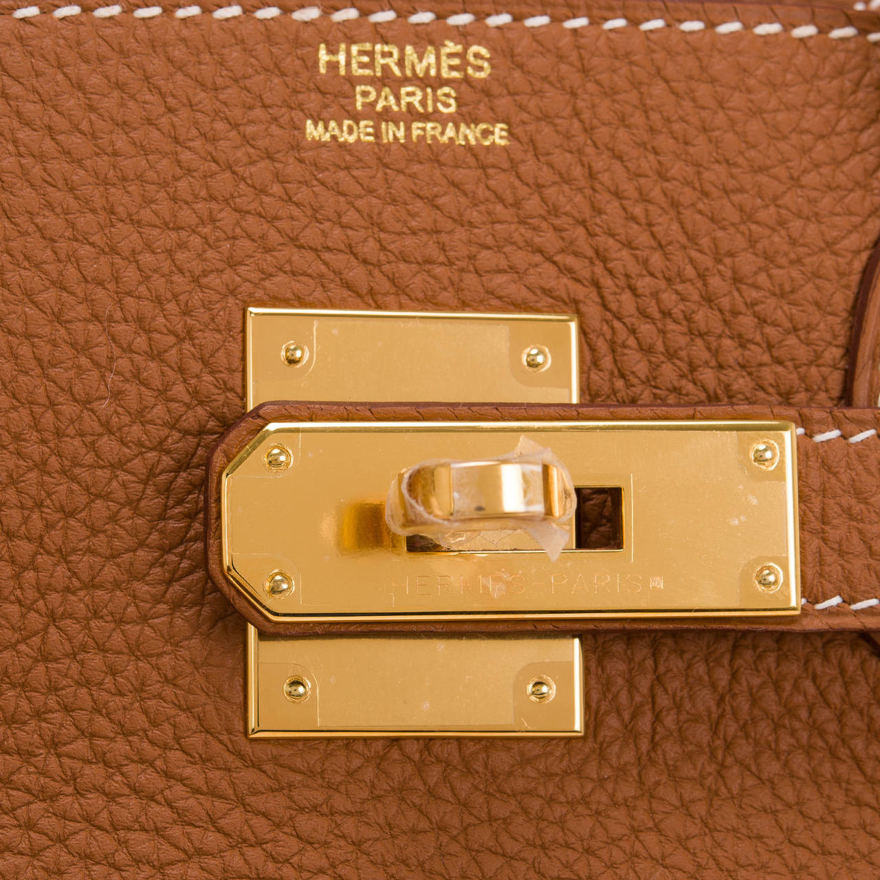 Women's Hermes Gold Togo Birkin 30cm Gold Hardware For Sale