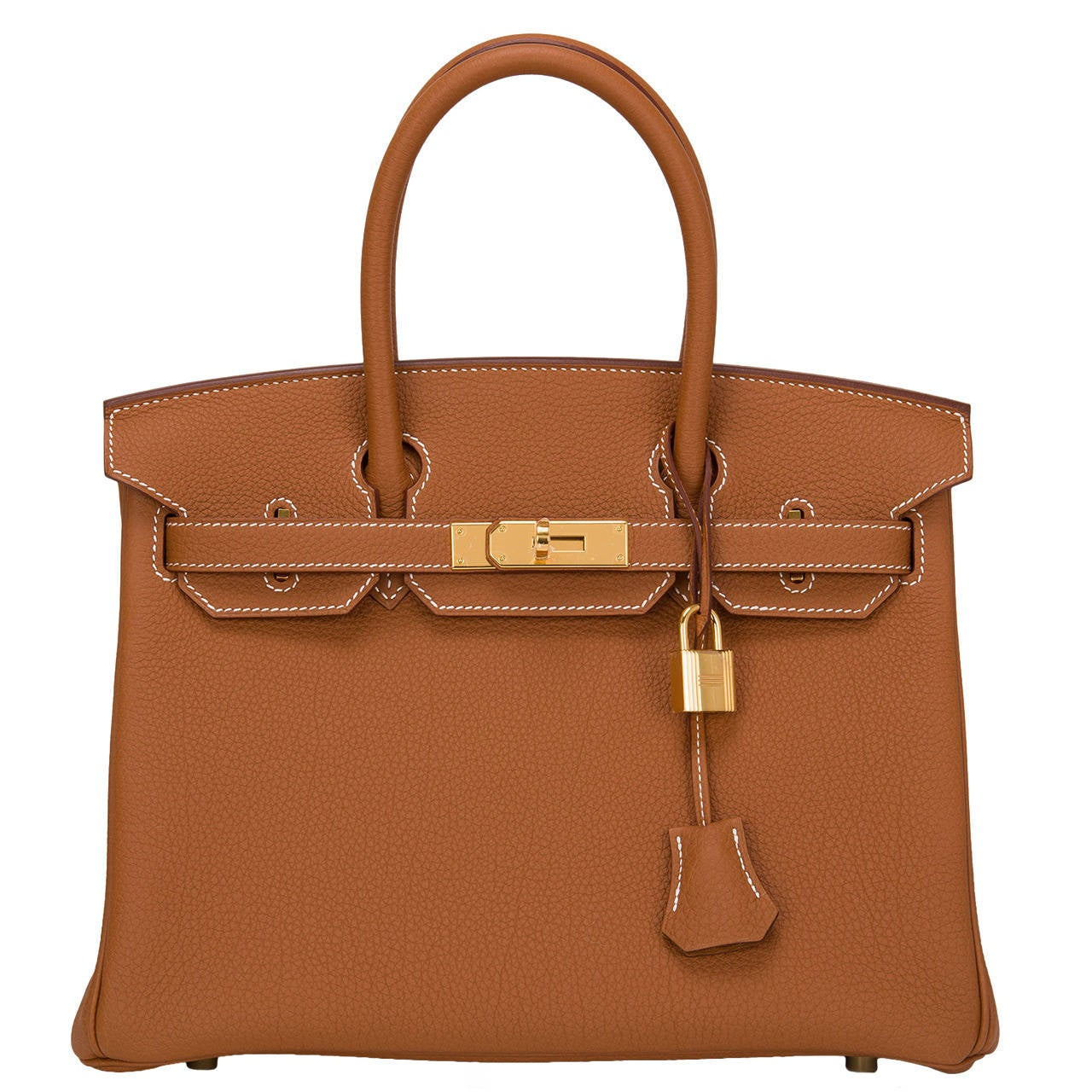 Hermes Gold Togo Birkin 30cm Gold Hardware For Sale