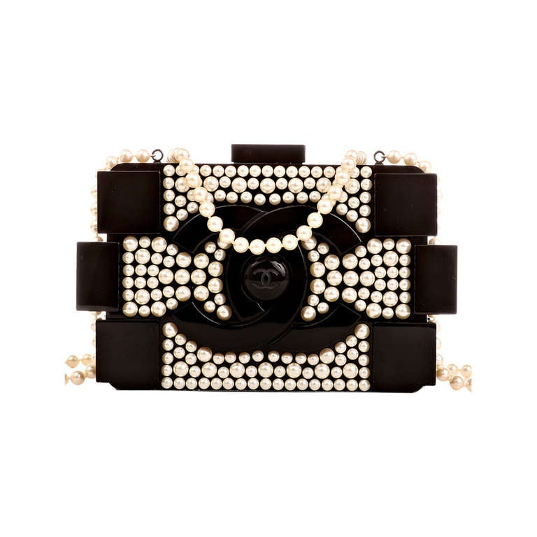 Chanel Pearlized Lego Clutch Minaudière at 1stdibs