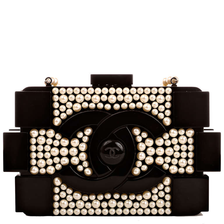 Women's Chanel Pearlized Lego Clutch Minaudière For Sale
