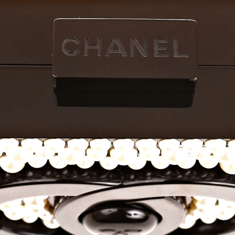 Chanel Pearlized Lego Clutch Minaudière For Sale 3