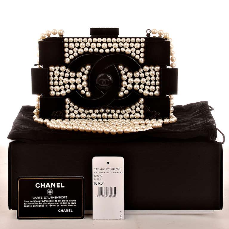 Chanel Pearlized Lego Clutch Minaudière For Sale 5