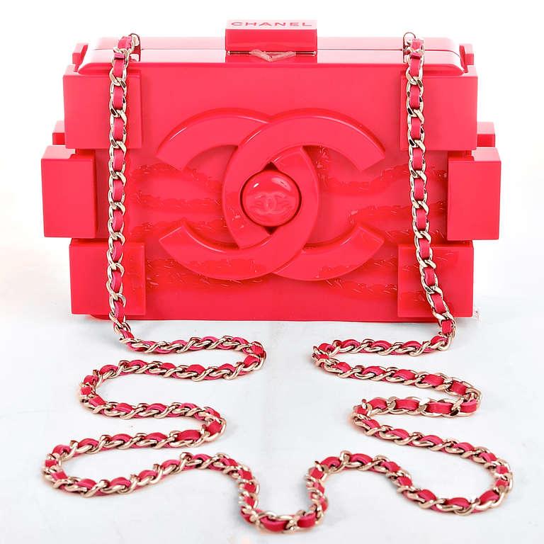 Chanel Clutch Bag Pink Pink Lego Clutch Boy Bag
