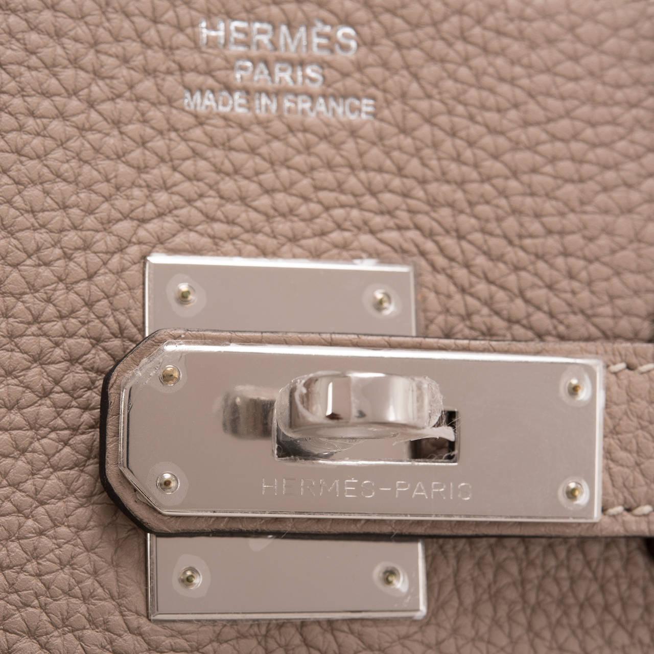Hermes Gris Tourterelle Togo Birkin 35cm Gold Hardware