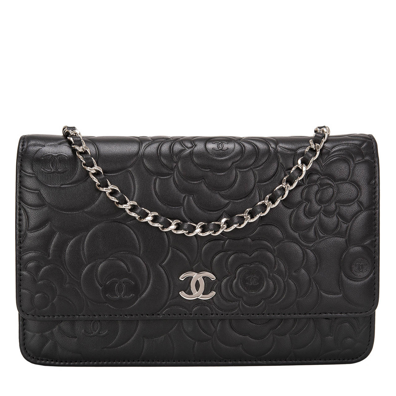 ee42cd31ca4b56 Chanel Black Camellia Wallet On Chain | Stanford Center for ...
