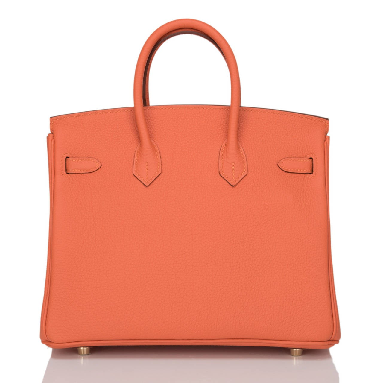 Hermes Feu Togo Birkin 25cm Gold Hardware In New Never_worn Condition For Sale In New York, NY