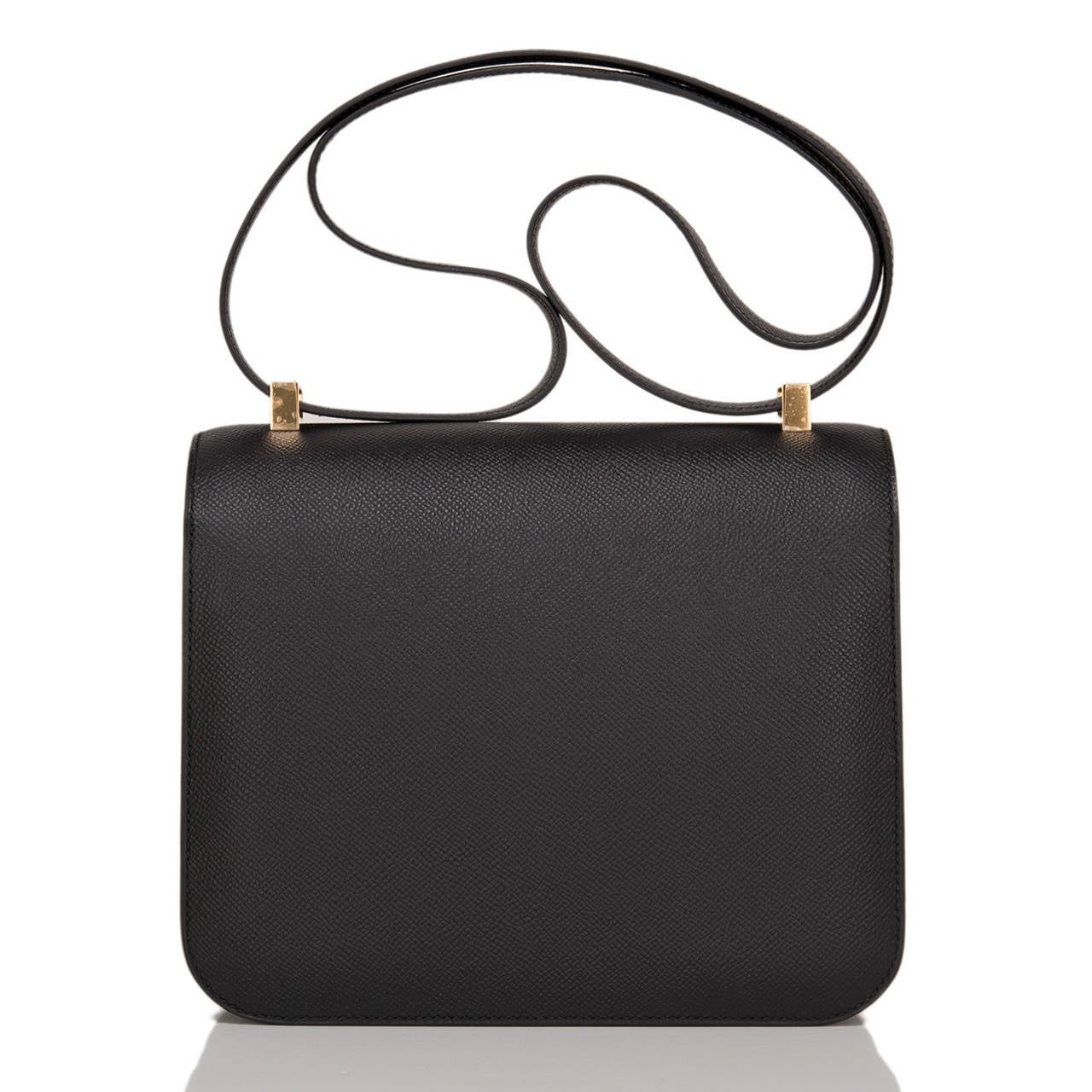 Hermes Black Epsom Constance 24cm Gold Hardware In New never worn Condition For Sale In New York, NY