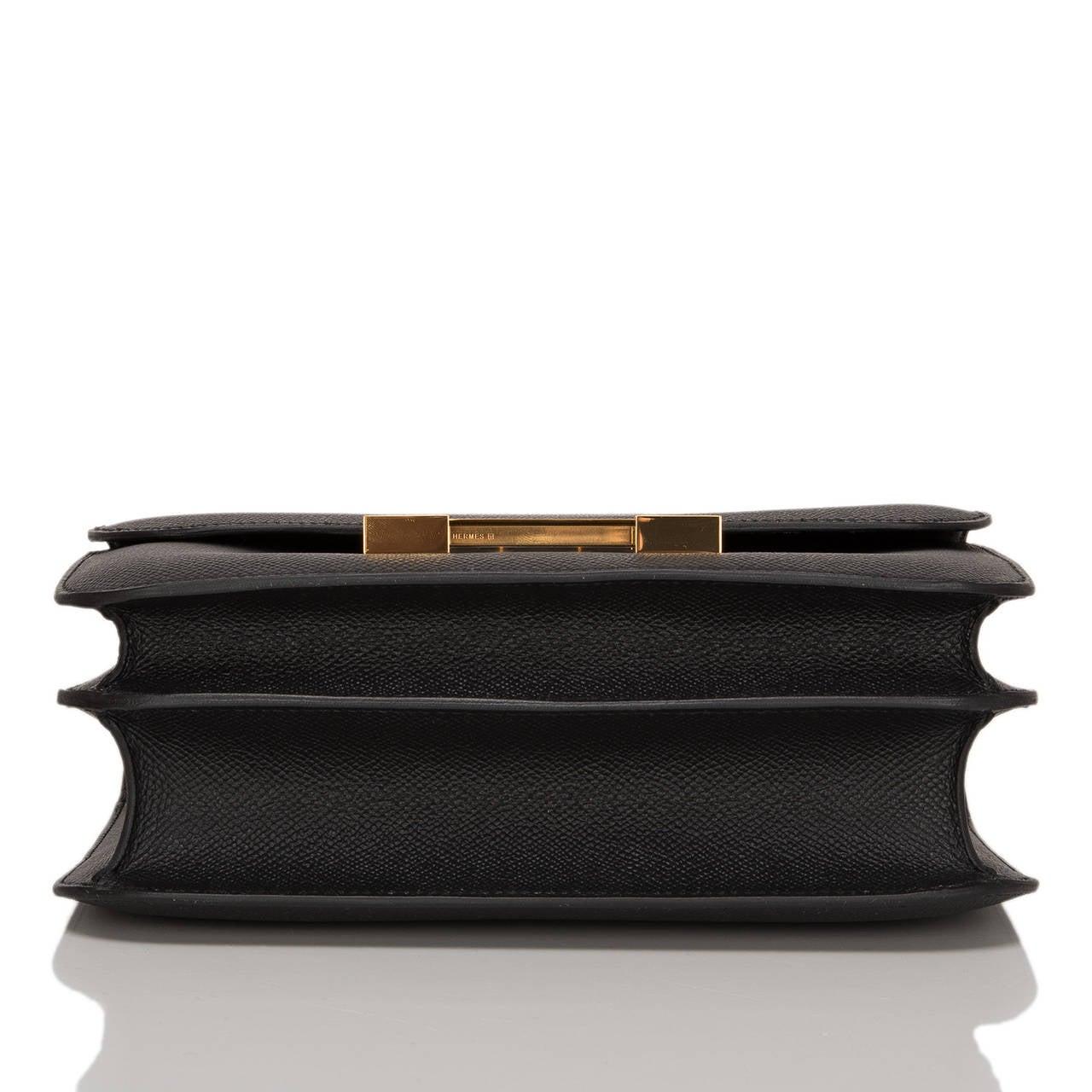 Women's Hermes Black Epsom Constance 24cm Gold Hardware For Sale