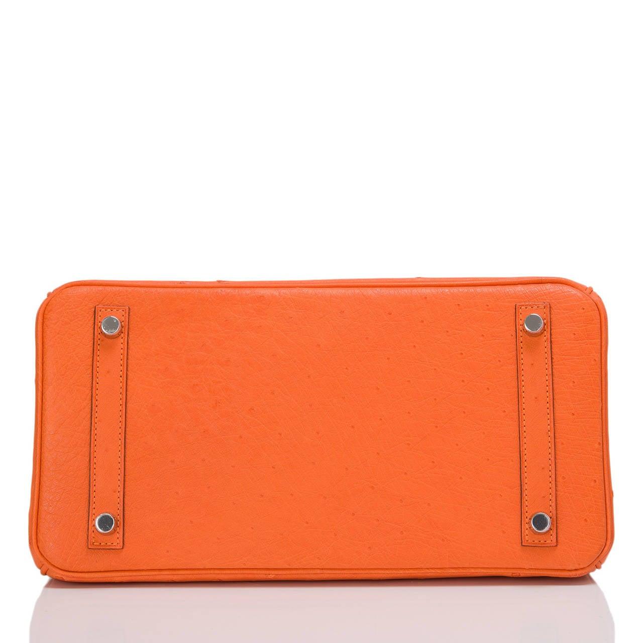 Women's Hermes Tangerine Ostrich Birkin 30cm For Sale