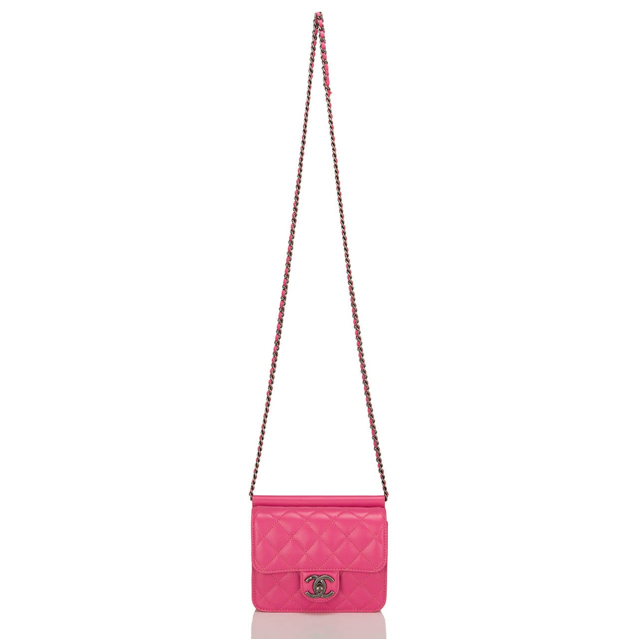 Chanel Pink Crossing Times Mini Flap Bag For Sale 1