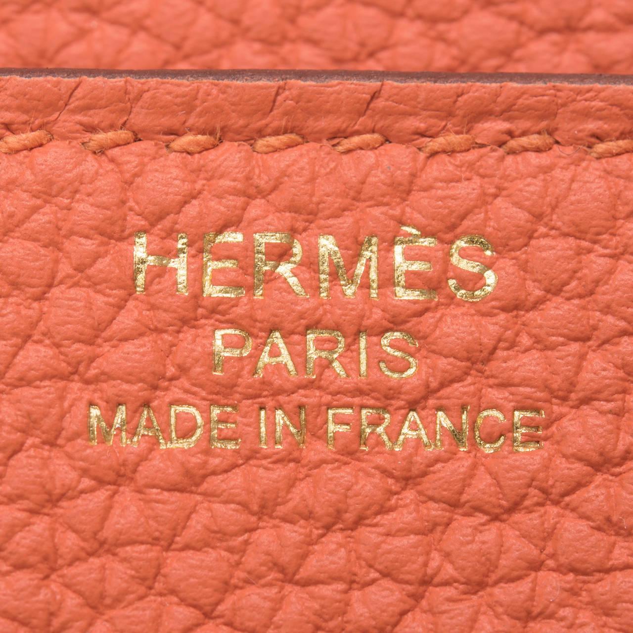 Hermes Feu Togo Birkin 25cm Gold Hardware For Sale 2