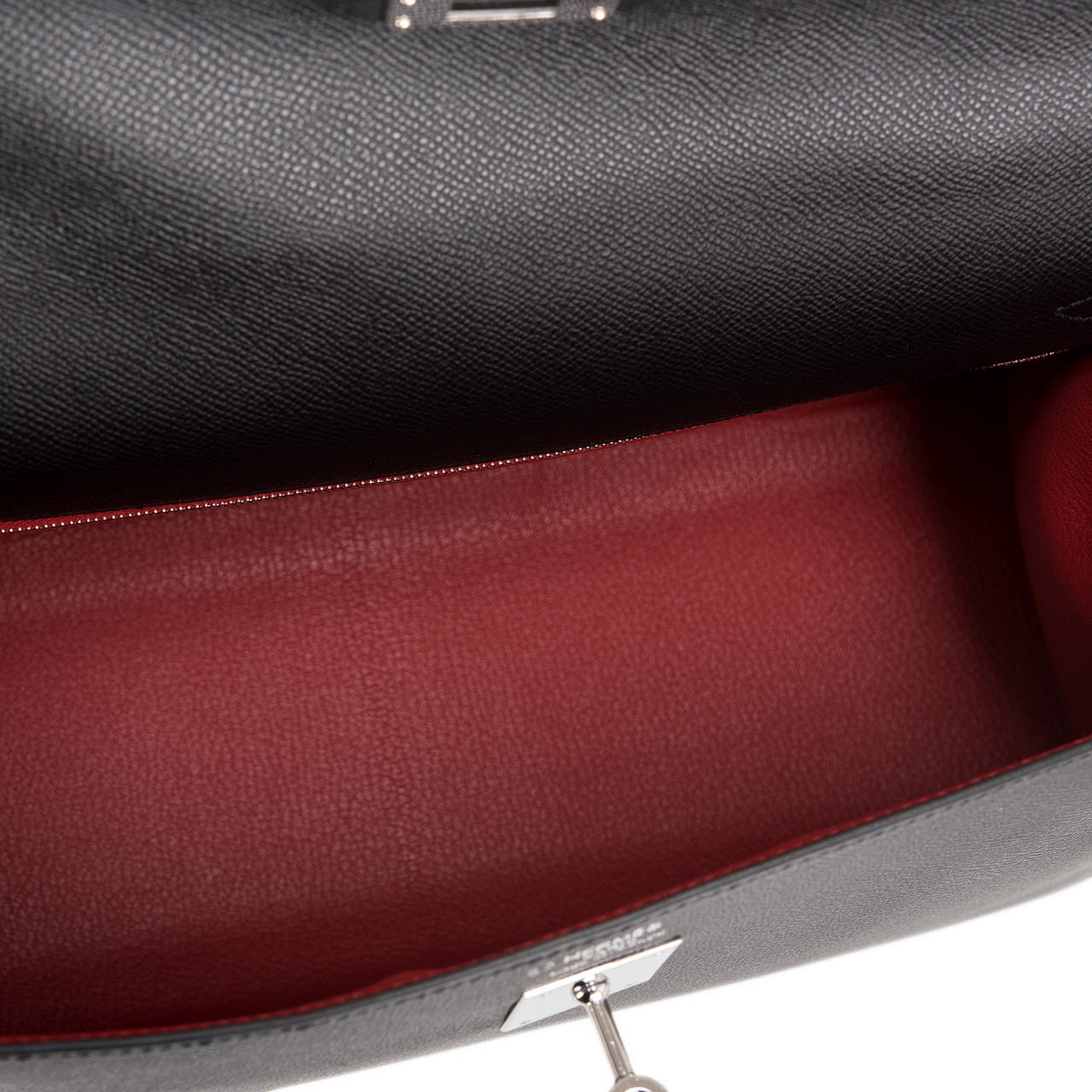 Hermes HSS Black And Rouge Casaque Epsom Sellier Kelly 35cm at 1stdibs