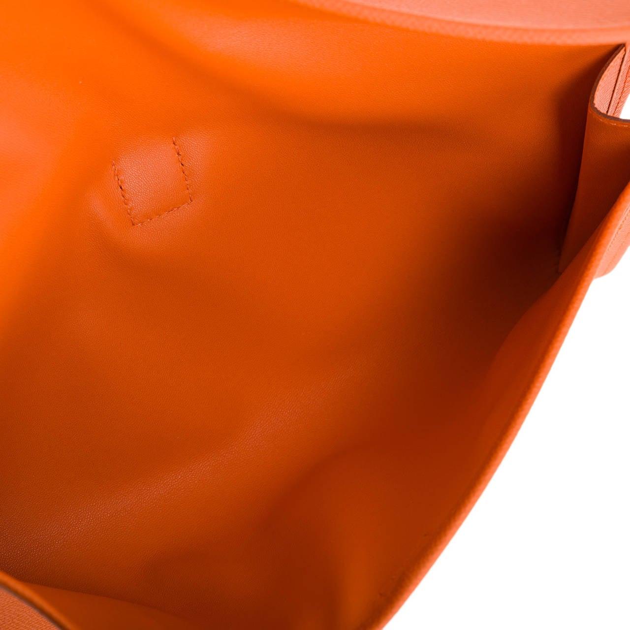 hermes dogon wallet replica - hermes jige elan epsom clutch bag in orange, hermes women bags