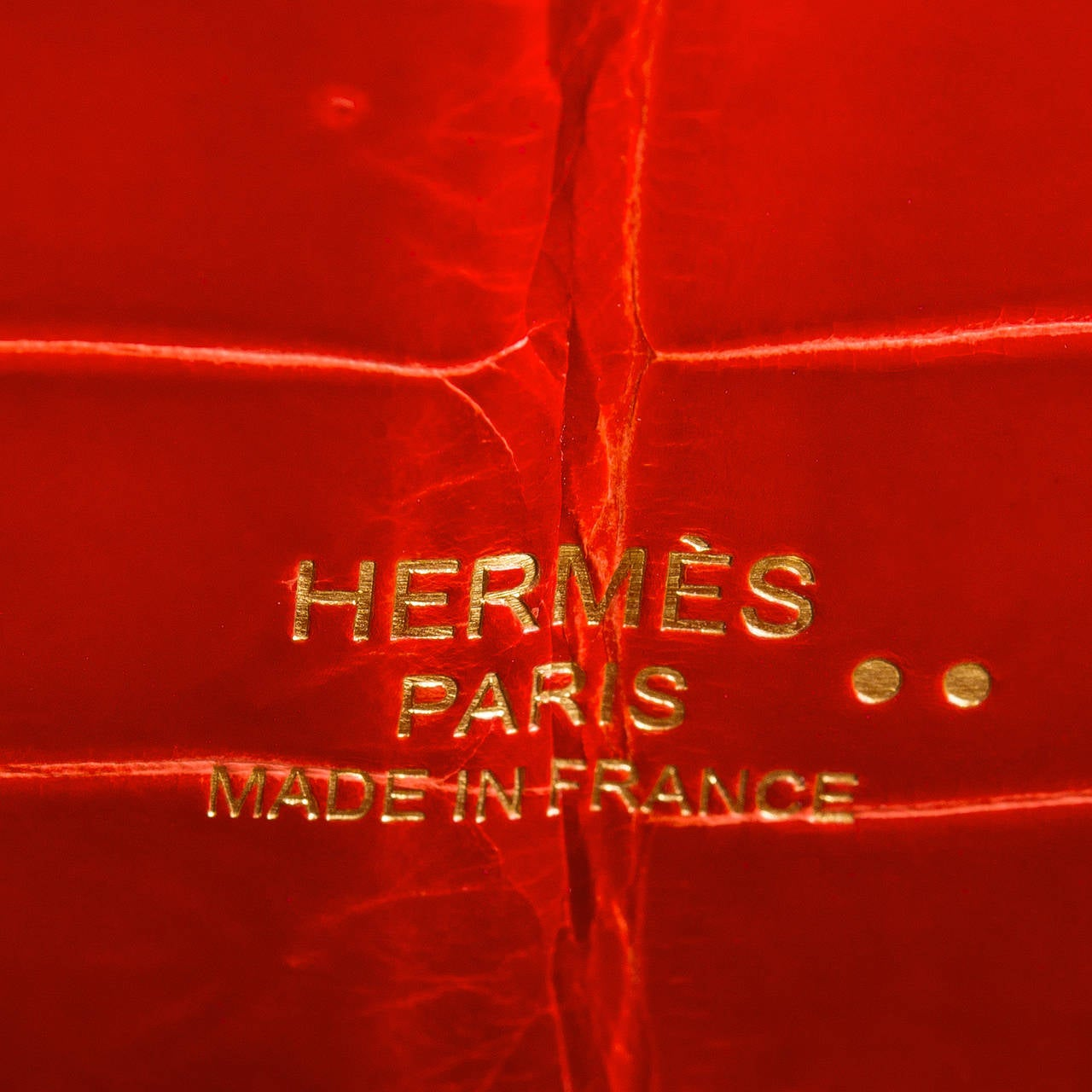 Hermes Sanguine Shiny Porosus Crocodile Kelly Cut For Sale 3