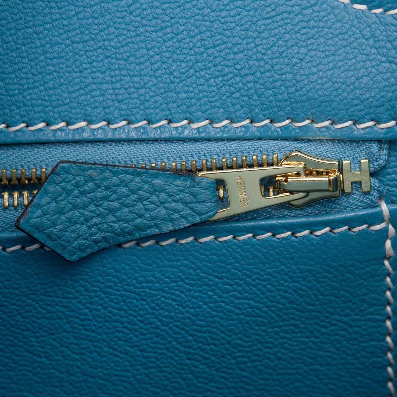 birken purses - Hermes Blue Jean Togo Birkin 35cm Gold Hardware at 1stdibs