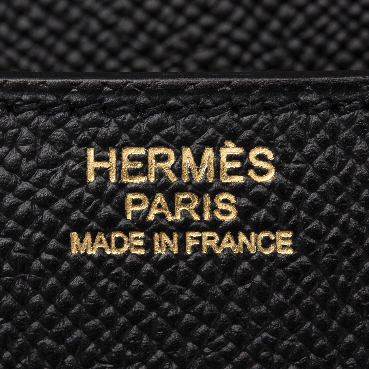 Hermes Black Epsom Constance 24cm Gold Hardware For Sale 3