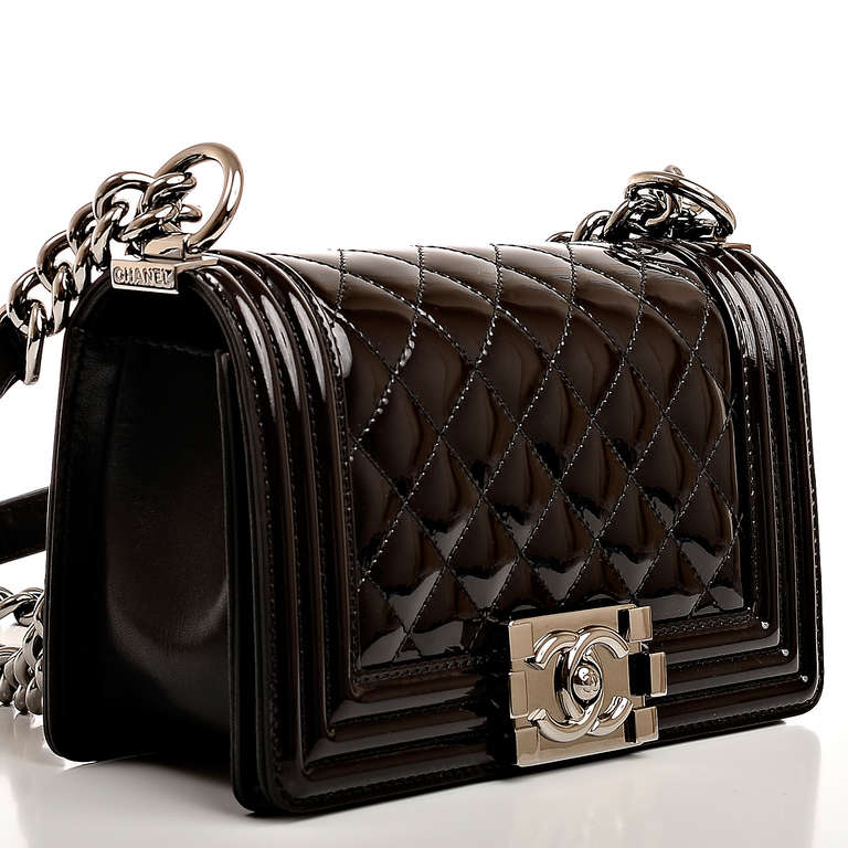 Small Black Patent Handbag | Luggage And Suitcases
