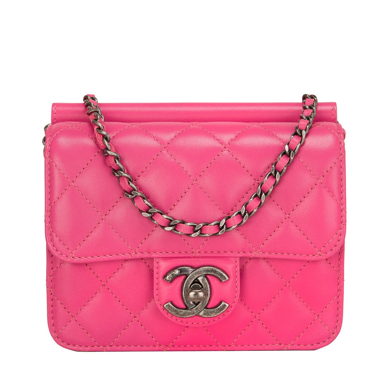 Chanel Pink Crossing Times Mini Flap Bag For Sale