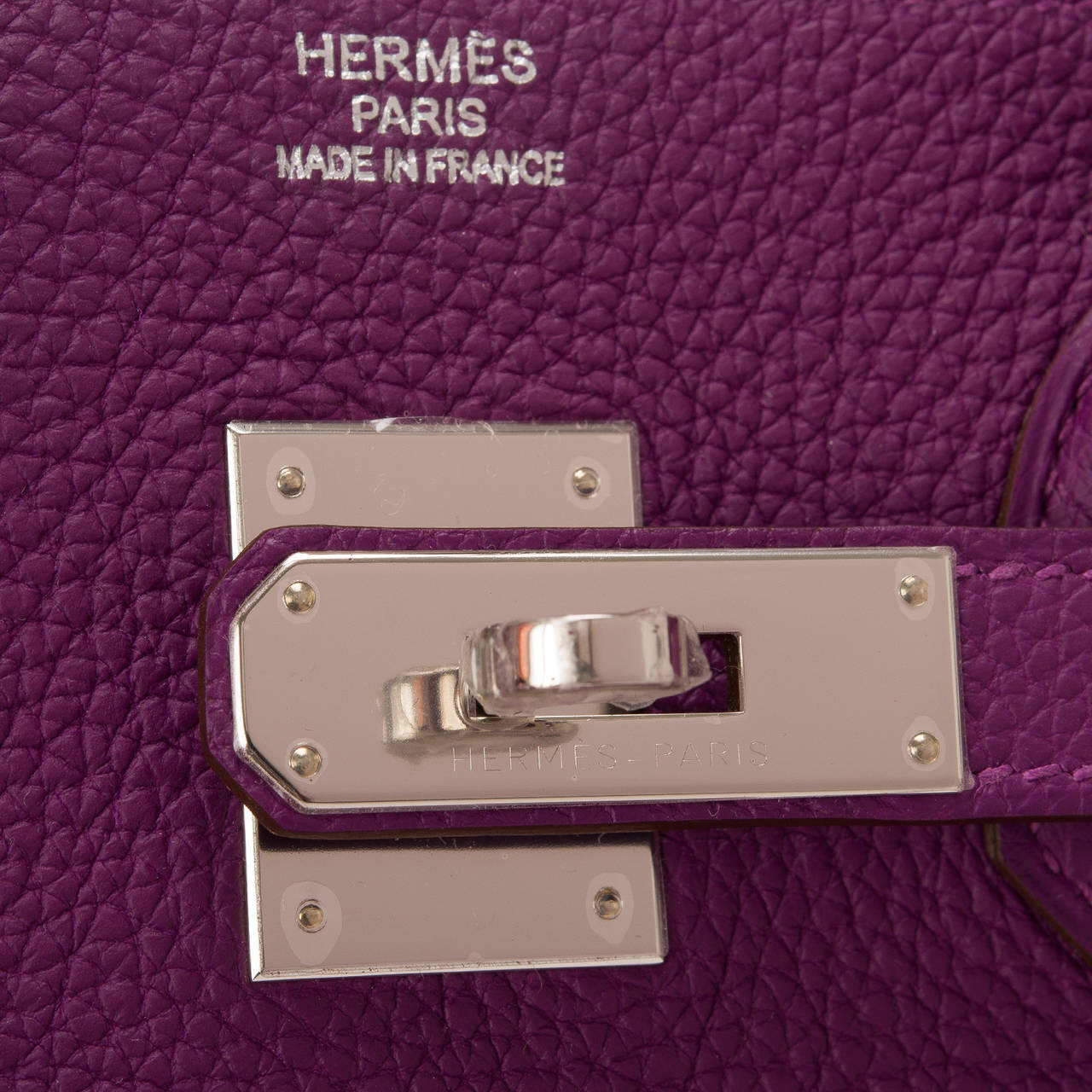 Women's Hermes Anemone Togo Birkin 35cm Palladium Hardware For Sale
