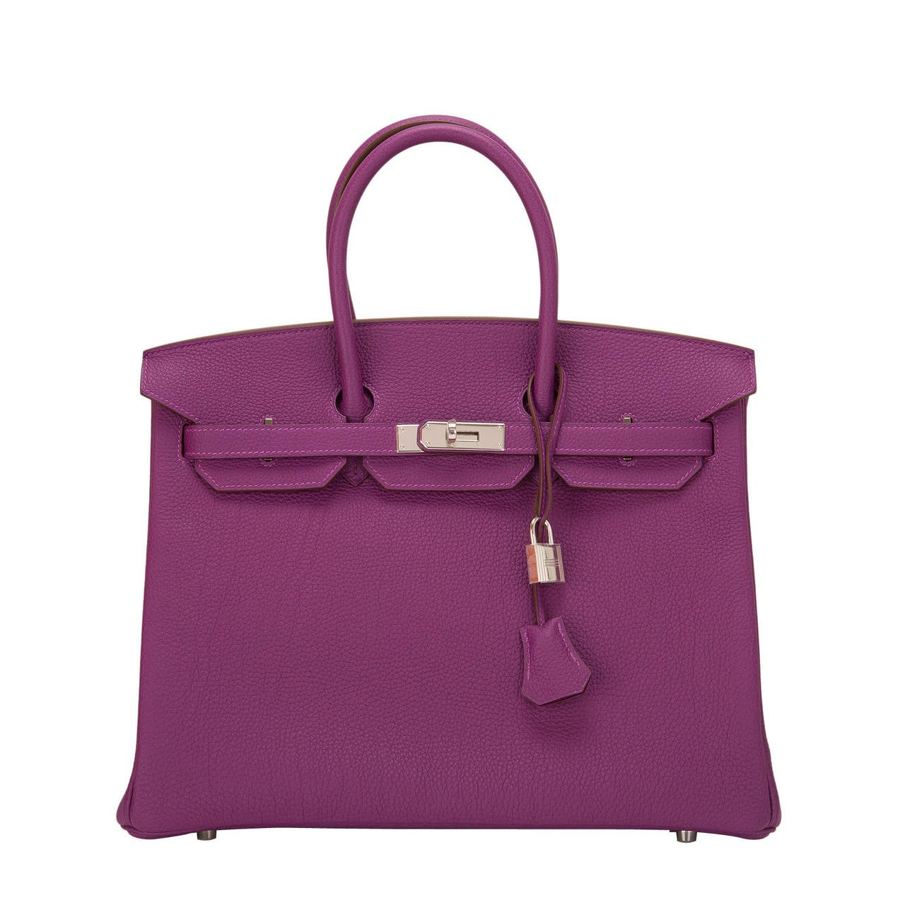 Hermes Anemone Togo Birkin 35cm Palladium Hardware For Sale
