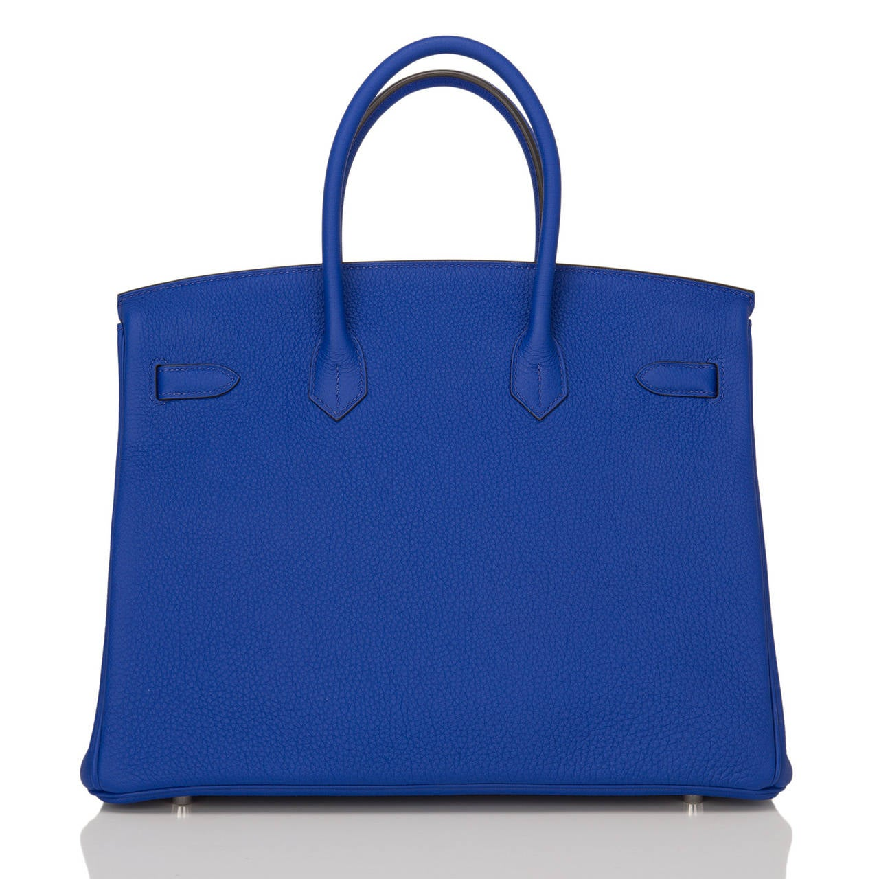Hermes Blue Electric Togo Birkin 35cm In New Never_worn Condition For Sale In New York, NY