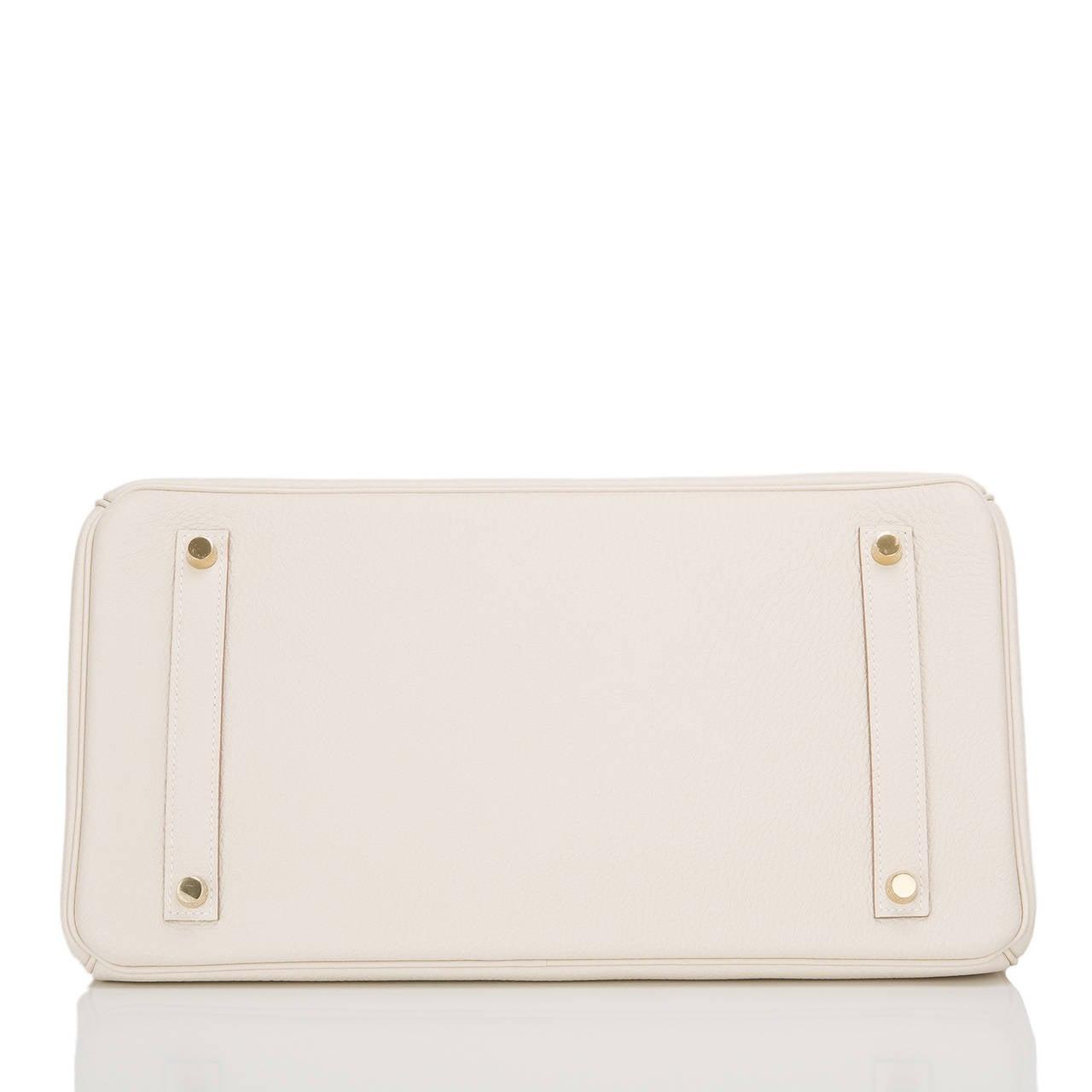 Women's Hermes Craie Togo Birkin 35cm Gold Hardware For Sale