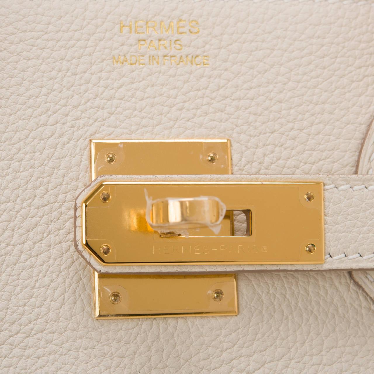 Hermes Craie Togo Birkin 35cm Gold Hardware For Sale 1