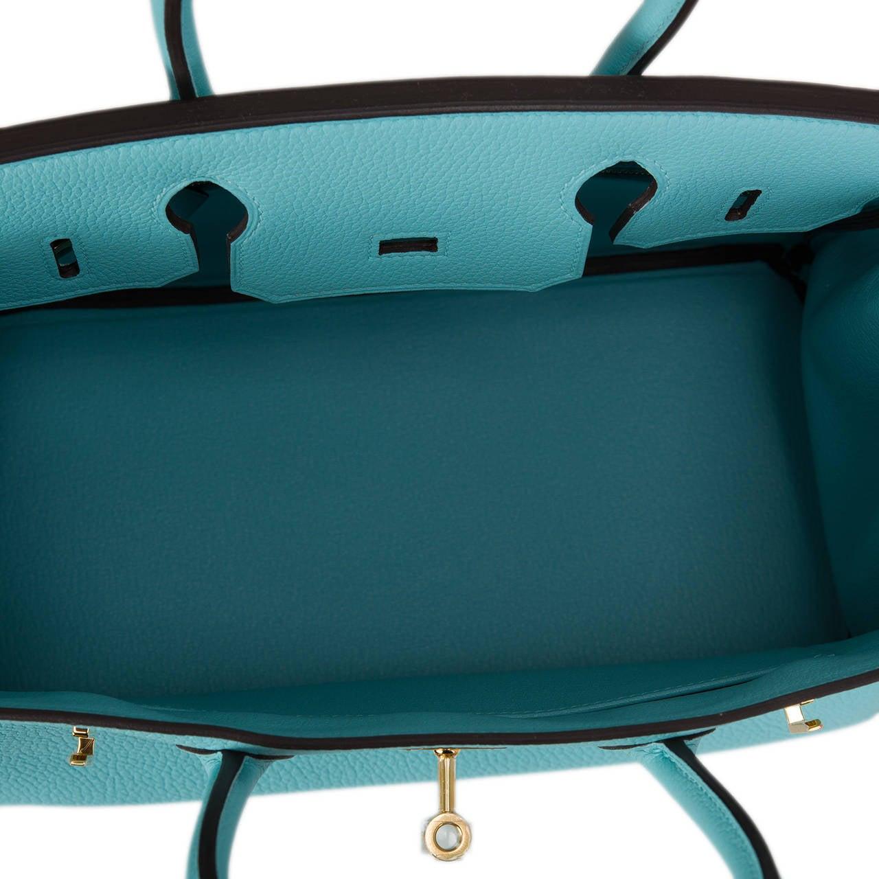 kelly bags hermes - Hermes Blue Atoll Togo Birkin 30cm Gold Hardware at 1stdibs