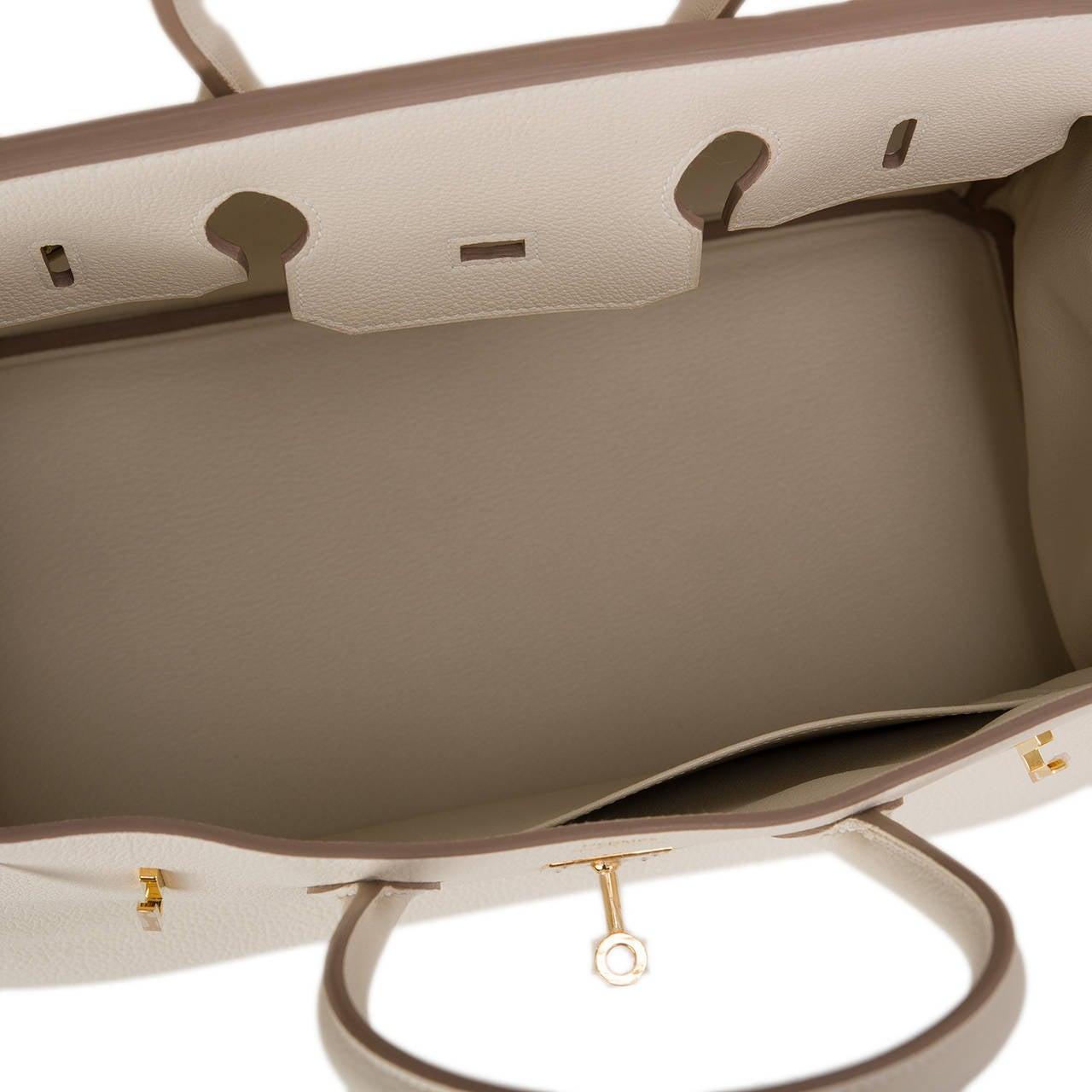 Hermes Craie Togo Birkin 35cm Gold Hardware For Sale 2